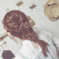 セミロング 外国人風 簡単ヘアアレンジ ヘアアレンジ ヘアスタイルや髪型の写真・画像