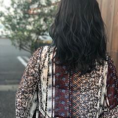グラデーションカラー ナチュラル 暗髪 ブルージュ ヘアスタイルや髪型の写真・画像
