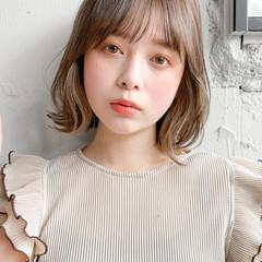 アンニュイほつれヘア 韓国ヘア 大人かわいい ボブ ヘアスタイルや髪型の写真・画像