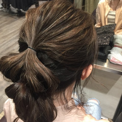 ショート ガーリー 簡単ヘアアレンジ ミディアム ヘアスタイルや髪型の写真・画像