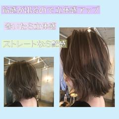 ボブ フェミニン ショートヘア 切りっぱなしボブ ヘアスタイルや髪型の写真・画像