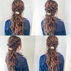 エレガント 上品 ロング ルーズ ヘアスタイルや髪型の写真・画像