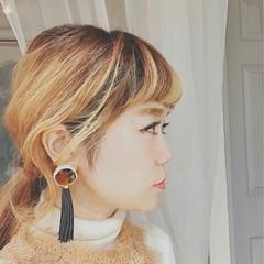 外国人風 グラデーションカラー ローポニーテール 春 ヘアスタイルや髪型の写真・画像
