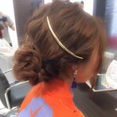 ヘアアレンジ 大人かわいい ゆるふわ おフェロ ヘアスタイルや髪型の写真・画像