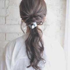 ヘアアレンジ 夏 結婚式 外国人風 ヘアスタイルや髪型の写真・画像