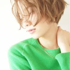 ショート ストリート ガーリー ウェットヘア ヘアスタイルや髪型の写真・画像