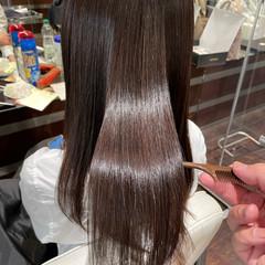 トリートメント ロング ナチュラル 艶髪 ヘアスタイルや髪型の写真・画像