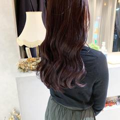 ロング ピンク 艶髪 ナチュラル ヘアスタイルや髪型の写真・画像