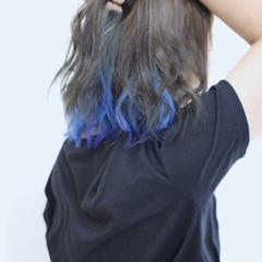 ダブルカラー 外国人風カラー アッシュ インナーカラー ヘアスタイルや髪型の写真・画像