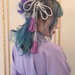 ヘアアレンジ 袴 ナチュラル 卒業式 ヘアスタイルや髪型の写真・画像