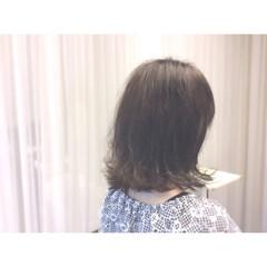グレージュ ブルージュ ボブ 暗髪 ヘアスタイルや髪型の写真・画像