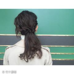 黒髪 ガーリー ショート 簡単ヘアアレンジ ヘアスタイルや髪型の写真・画像