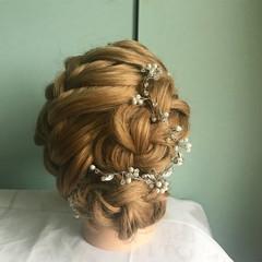 謝恩会 結婚式 デート ロング ヘアスタイルや髪型の写真・画像
