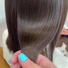 ベージュ アッシュベージュ ミルクティーベージュ ナチュラル ヘアスタイルや髪型の写真・画像