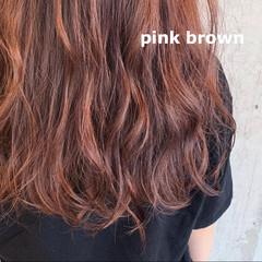 ピンク コンサバ ダブルカラー ピンクベージュ ヘアスタイルや髪型の写真・画像