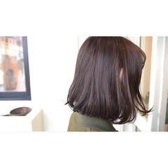 ボブ ラベンダーアッシュ ボルドー ラベンダー ヘアスタイルや髪型の写真・画像