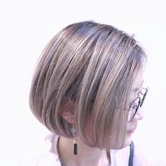 外国人風 バレイヤージュ グラデーションカラー ストリート ヘアスタイルや髪型の写真・画像