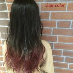 ストリート ハイライト グラデーションカラー 暗髪 ヘアスタイルや髪型の写真・画像
