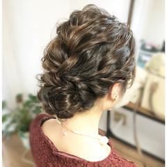 結婚式 上品 エレガント セミロング ヘアスタイルや髪型の写真・画像
