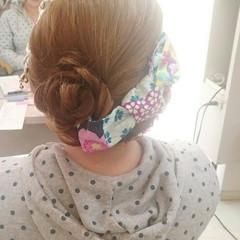 ヘアアレンジ 和装 お祭り ロング ヘアスタイルや髪型の写真・画像