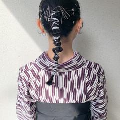 卒業式 ミディアム 袴 ヘアセット ヘアスタイルや髪型の写真・画像