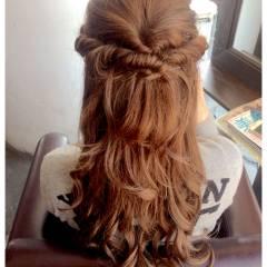 コンサバ ロング ヘアアレンジ 外国人風 ヘアスタイルや髪型の写真・画像