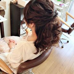 エレガント パーティ ヘアアレンジ 上品 ヘアスタイルや髪型の写真・画像