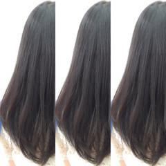 暗髪 ロング 黒髪 ストレート ヘアスタイルや髪型の写真・画像