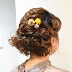 二次会 ヘアアレンジ ボブ 結婚式 ヘアスタイルや髪型の写真・画像