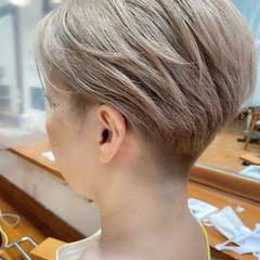 ミルクティー ベリーショート ボブ ショートヘア ヘアスタイルや髪型の写真・画像