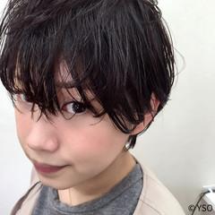 暗髪 ウェットヘア モード 黒髪 ヘアスタイルや髪型の写真・画像
