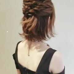 エレガント 簡単ヘアアレンジ デート ボブアレンジ ヘアスタイルや髪型の写真・画像