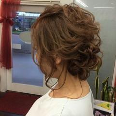 上品 セミロング エレガント ヘアアレンジ ヘアスタイルや髪型の写真・画像