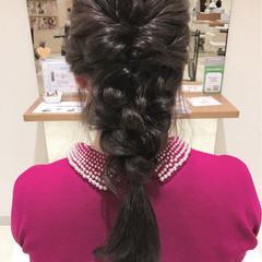 簡単ヘアアレンジ 編み込み ヘアアレンジ ロング ヘアスタイルや髪型の写真・画像