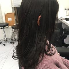 暗髪女子 暗髪 セミロング ダークトーン ヘアスタイルや髪型の写真・画像