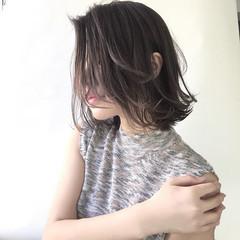 モード リラックス ミディアム ヘアアレンジ ヘアスタイルや髪型の写真・画像