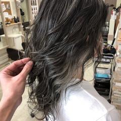 ロング トリートメント バレイヤージュ ハイライト ヘアスタイルや髪型の写真・画像