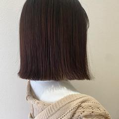 タッセル ロブ ナチュラル タッセルボブ ヘアスタイルや髪型の写真・画像