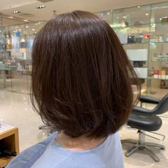 フェミニン ボブ 透明感カラー ヘアスタイルや髪型の写真・画像