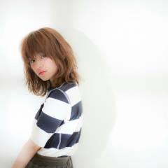 外ハネ 外国人風 ミディアム モテ髪 ヘアスタイルや髪型の写真・画像