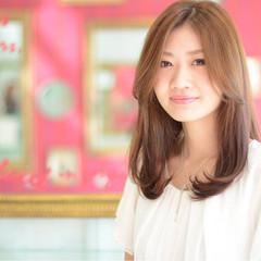 大人かわいい フェミニン コンサバ セミロング ヘアスタイルや髪型の写真・画像