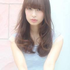 ロング 外国人風 大人かわいい 卵型 ヘアスタイルや髪型の写真・画像