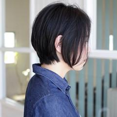 黒髪 ナチュラル こなれ感 ショートボブ ヘアスタイルや髪型の写真・画像