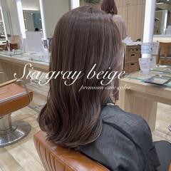 ミディアム 外国人風カラー 透明感カラー インナーカラー ヘアスタイルや髪型の写真・画像