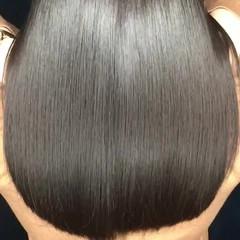ストレート トリートメント パーマ 縮毛矯正 ヘアスタイルや髪型の写真・画像