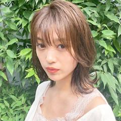 ゆるふわパーマ フェミニン デジタルパーマ アンニュイほつれヘア ヘアスタイルや髪型の写真・画像