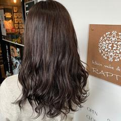 グレージュ ブラウン フェミニン ショコラブラウン ヘアスタイルや髪型の写真・画像