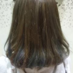 暗髪 ハイライト ミディアム レッド ヘアスタイルや髪型の写真・画像