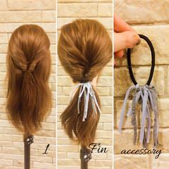 大人女子 簡単ヘアアレンジ ヘアアレンジ ストリート ヘアスタイルや髪型の写真・画像