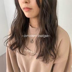 ショコラブラウン フェミニン ブラウンベージュ ナチュラルブラウンカラー ヘアスタイルや髪型の写真・画像